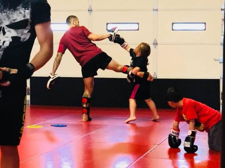 Kids Muay Thai class at Dominion BJJ