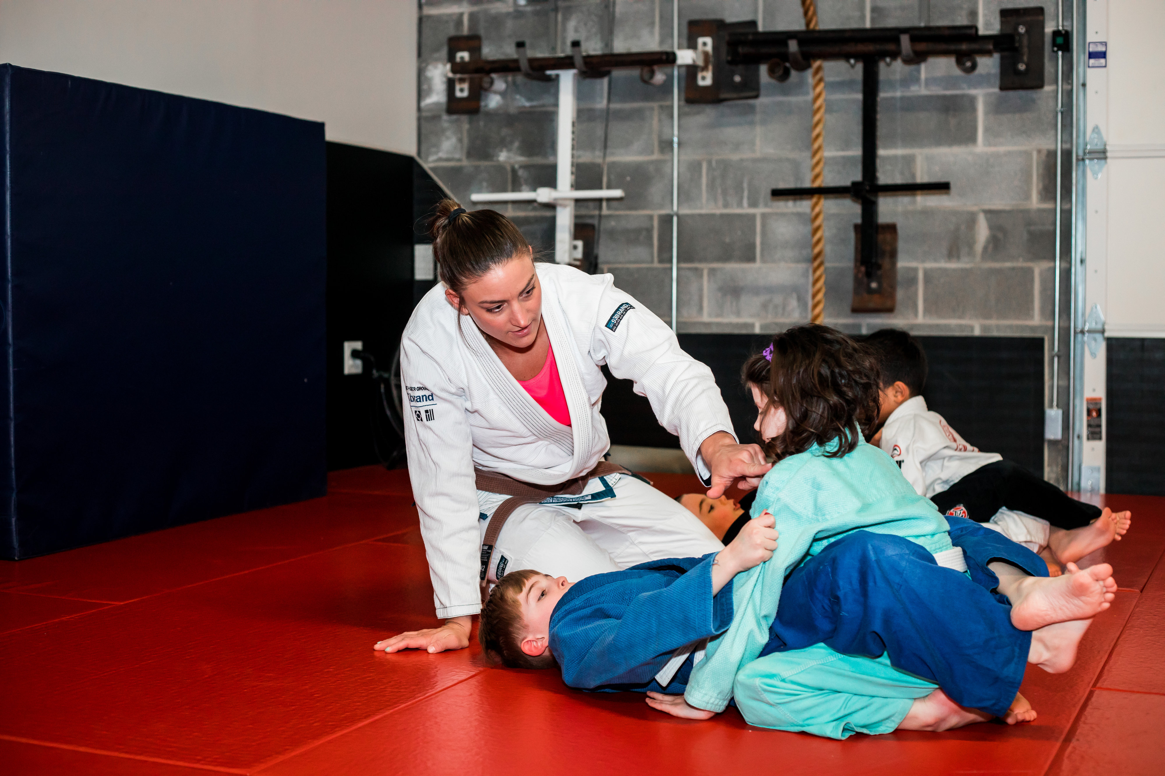 Practicing BJJ with Coach Michelle Welti at Dominion BJJ