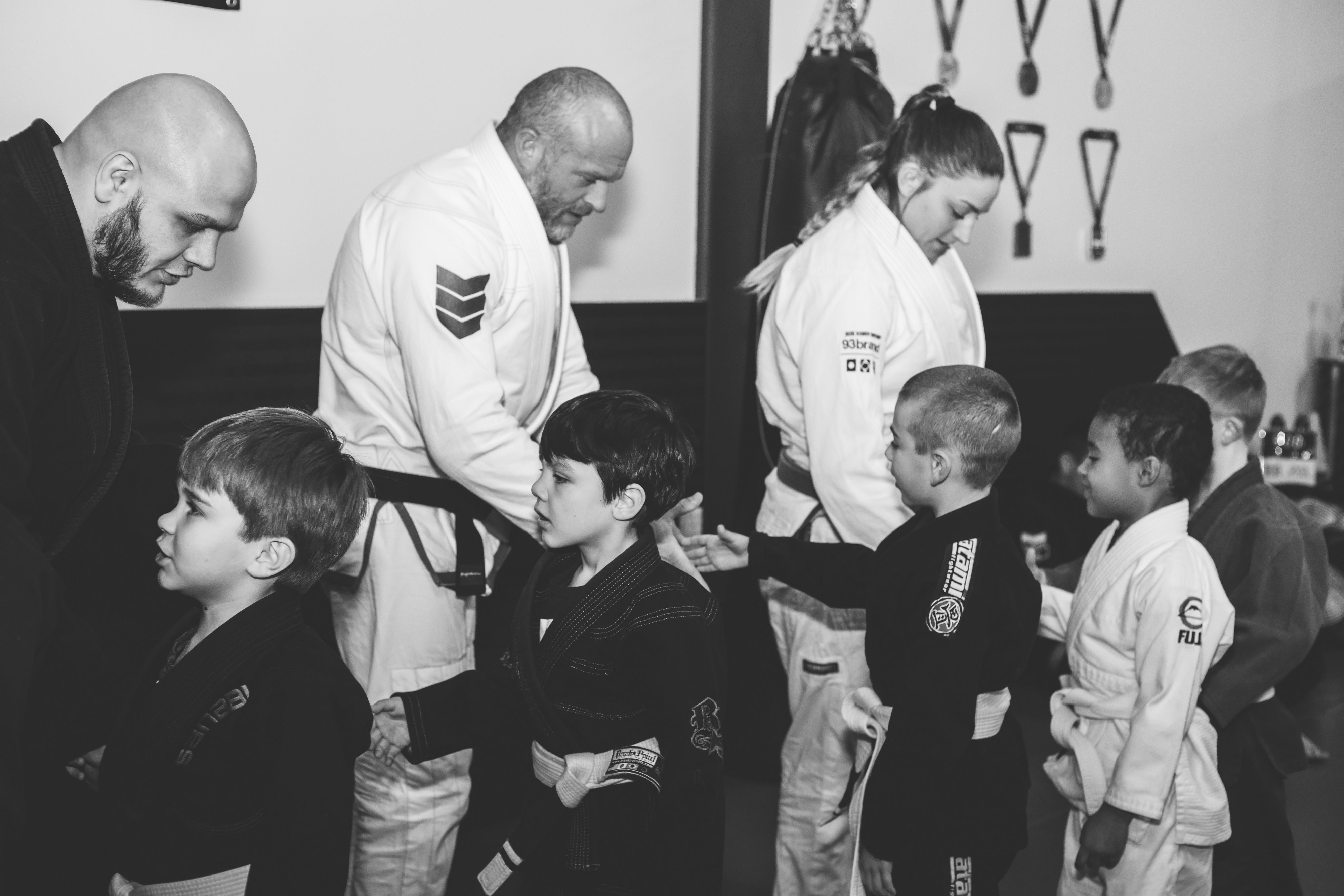 Dominion Kids BJJ shaking hands after class