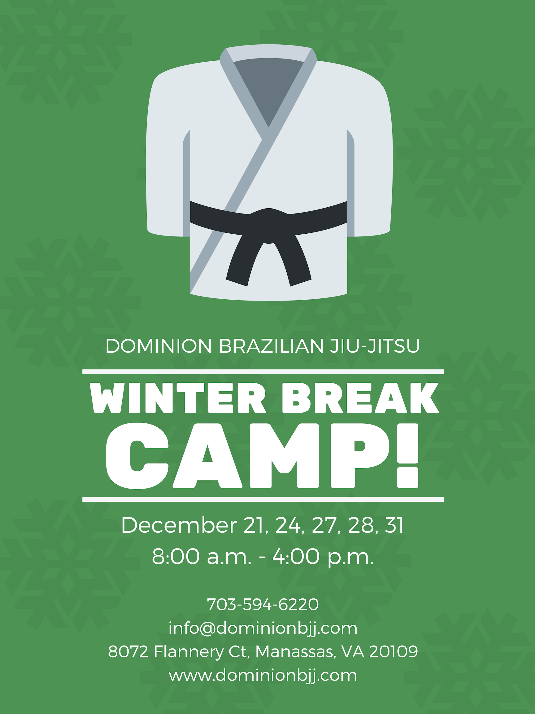 Winter Break Camp at Dominion Kids Martial Arts