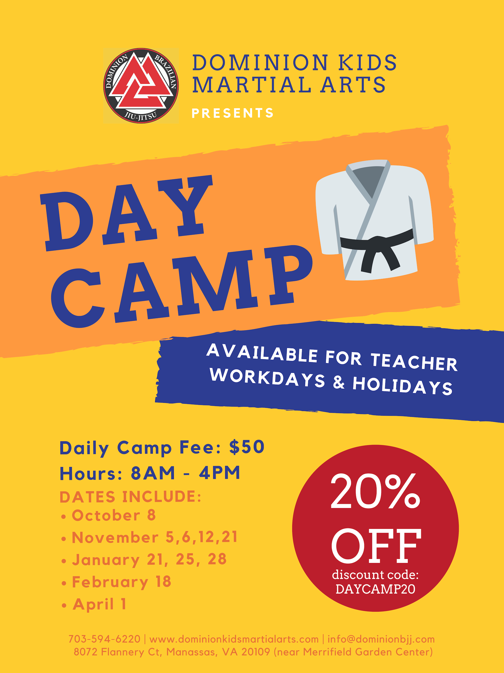 Day Camp at Dominion Kids Martial Arts