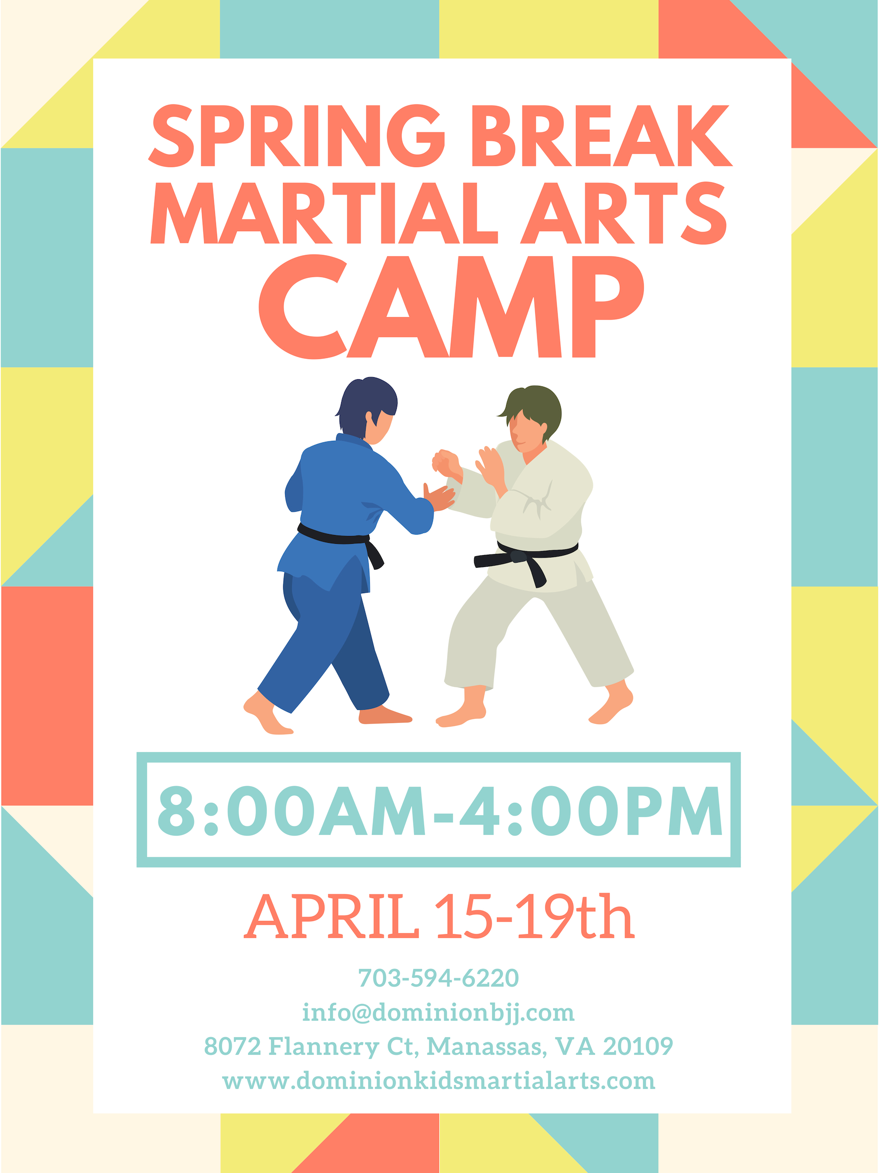 Spring Break Camp at Dominion Kids Martial Arts